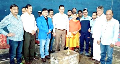Dignitaries and officials during the inaugural ceremony of Fencing Tournament.