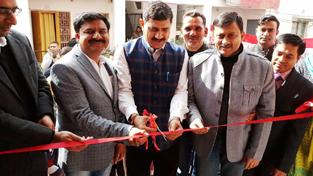 MP Jugal Kishore Sharma along with MLC Vibodh Gupta inaugurating a Passport Seva Kendra at Rajouri.