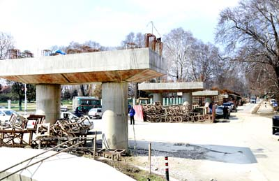 A view of incomplete Grade Separator at TRC Srinagar. -Excelsior/Shakeel