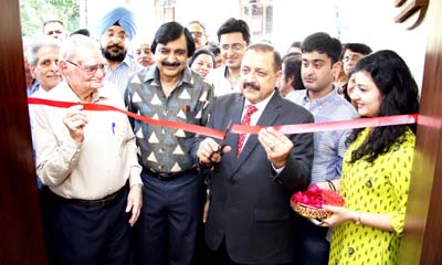 Minister of State in PMO, Dr Jitendra Singh, inaugurating Shri Ganesha Art Gallery at Gandhi Nagar in Jammu.
