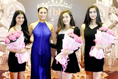 Participants during fbb Colours Femina Miss India 2018 talent hunt at Jammu. -Excelsior/Rakesh