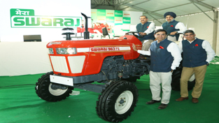 Officials of Mahindra and Mahindra Limited during launch of Swaraj 963 FE.