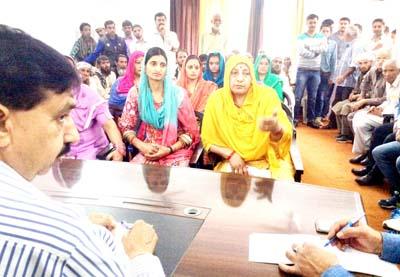 MLA Udhampur, Pawan Gupta during a public darbar on Tuesday.