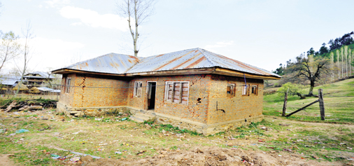 A view of shattered building of Sub-Centre at Krumbhura, Handwara in North Kashmir's Kupwara district. -Excelsior/Aabid Nabi