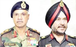Lt Gen Devraj  Anbu  Lt Gen Ranbir Singh