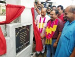 MLC Ch Vikram Randhawa inaugurating newly renovated cremation ground at Bhour Camp on Tuesday.