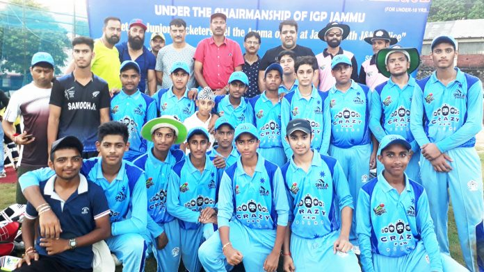 Winners posing along with dignitaries and officials during PPCPL at KC Sports Club in Jammu.