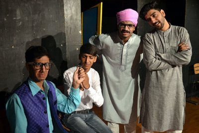 A scene from the play 'Do Kalakaar' presented in Natrang's Sunday Theatre Series.