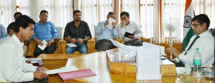 DC Kargil chairing a meeting on Tuesday.