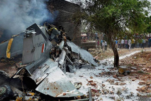 IAF sources said the pilot had reported a technical problem and sought priority landing.