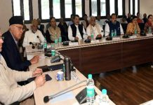 NC Working Committee meeting in Srinagar on Tuesday.