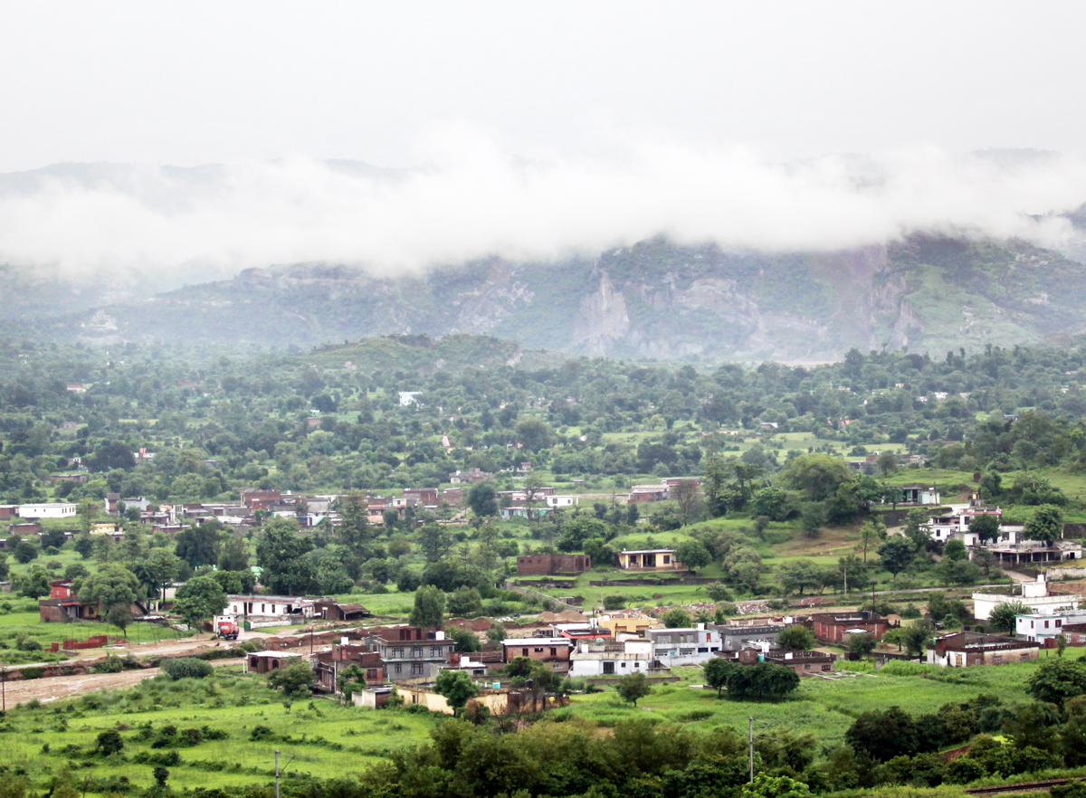 Panoramic view of Bajalta area on the outskirts of Jammu after Tuesday morning's rain. -Excelsior/Rakesh