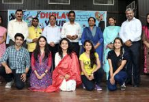 Winners of various competitions posing during 'Display Your Talent' contest at Jammu University.