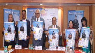 LIC Chairman, VK Sharma, along with other officers launching new plan 'Jeevan Shanti'.