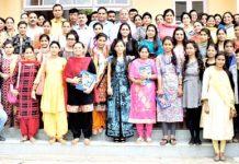 Alumni, staff and dignitaries posing for a group photograph at GDC Samba.