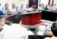 DDC Doda Simrandeep Singh chairing meeting to review the arrangements for Khelo India Games.