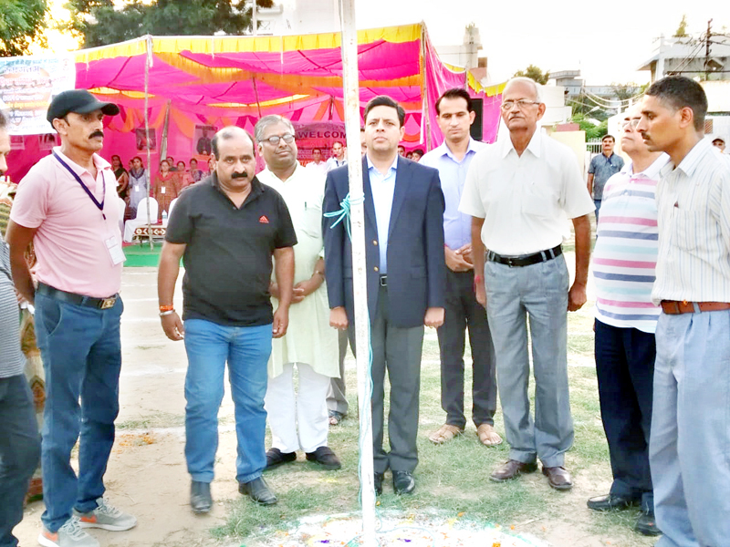 Chief guest and other dignitaries inaugurating Sports Meet organised by BSS.