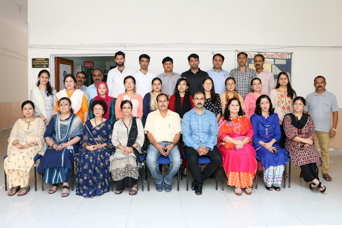 Participants of General Orientation Course with staff of HRD Centre, JU during valedictory function on Tuesday.