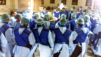 Delegates from India and other countries attending a cadaveric workshop at GMC Jammu.