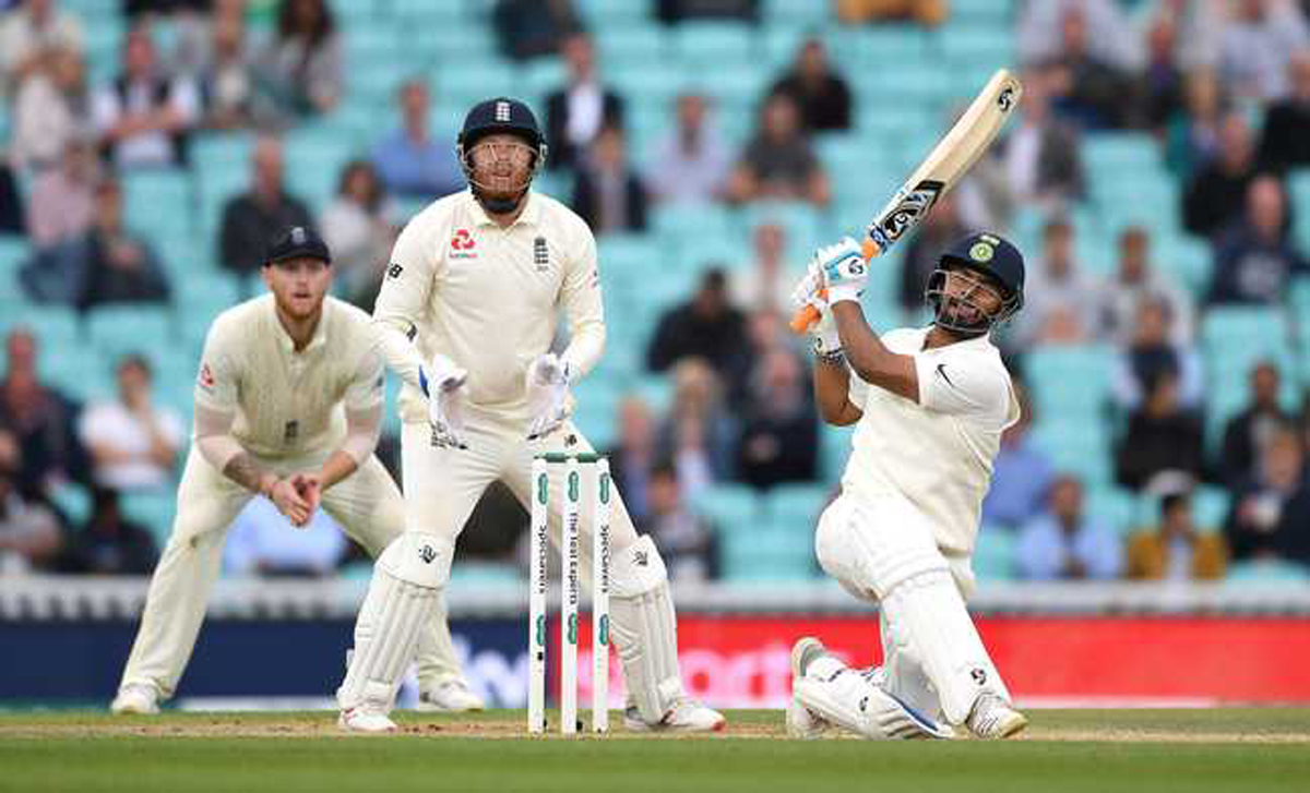 Rishabh Pant sent the bowlers on a leather hunt in the second session.