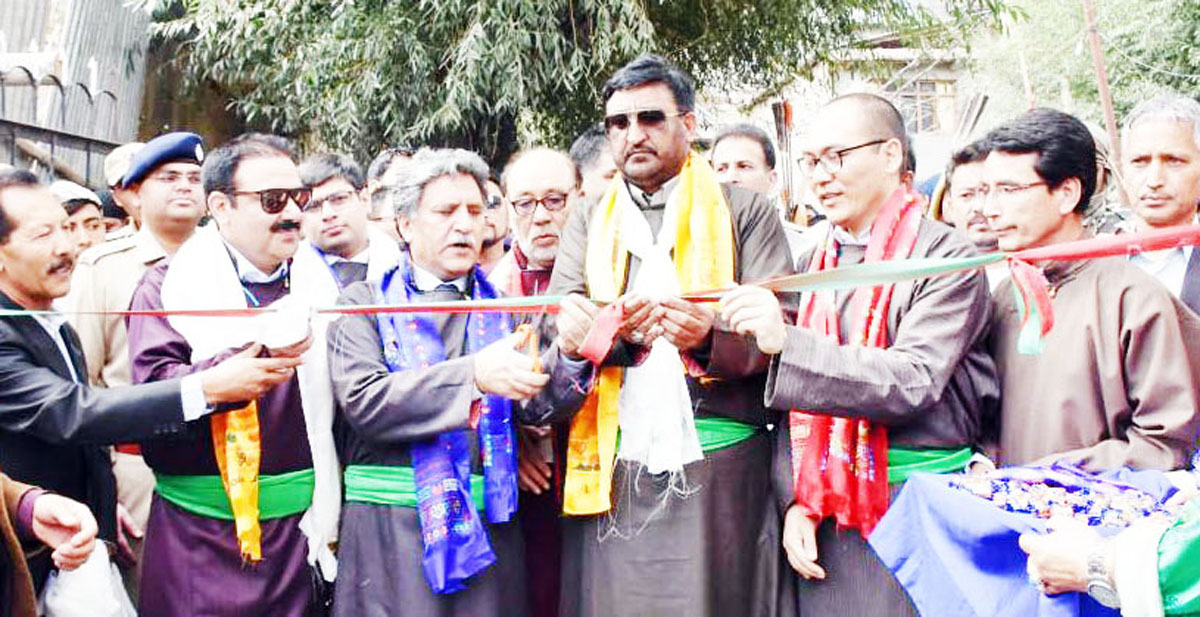 Chairman LC and Advisor inaugurating Kargil Ladakh Tourism Festival on Tuesday.