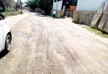 Dilapidated Kadlabal- Lasjan road in the outskirts of Srinagar. -Excelsior/Younis Khaliq