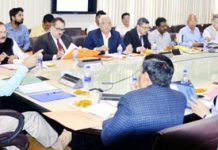 Chief Secretary BVR Subrahmanyam chairing FAC meeting on Tuesday.