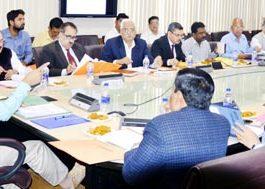 Chief Secretary BVR Subrahmanyam chairing FAC meeting on Tuesday.