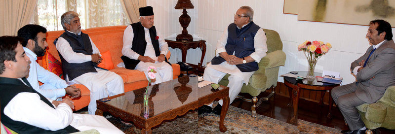 NC delegation during a meeting with Governor S P Malik.