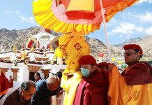 Devotees during Naropa Festival in Leh.