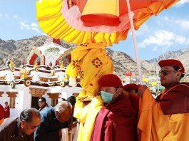 Devotees during Naropa Festival in Leh.