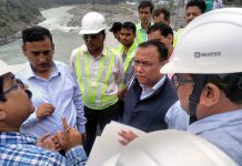 Joint Secretary MoRTH interacting with engineers during inspection of work on Udhampur-Banihal four laning project