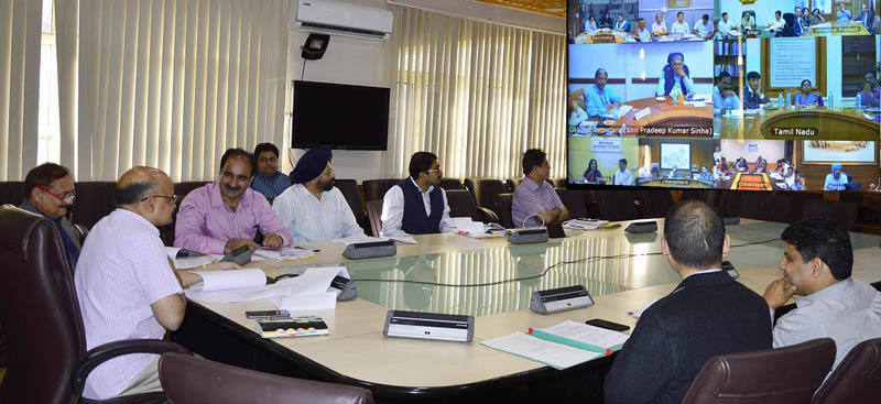 J&K CS participating in meeting of Union Cabinet Secretary through video conference.