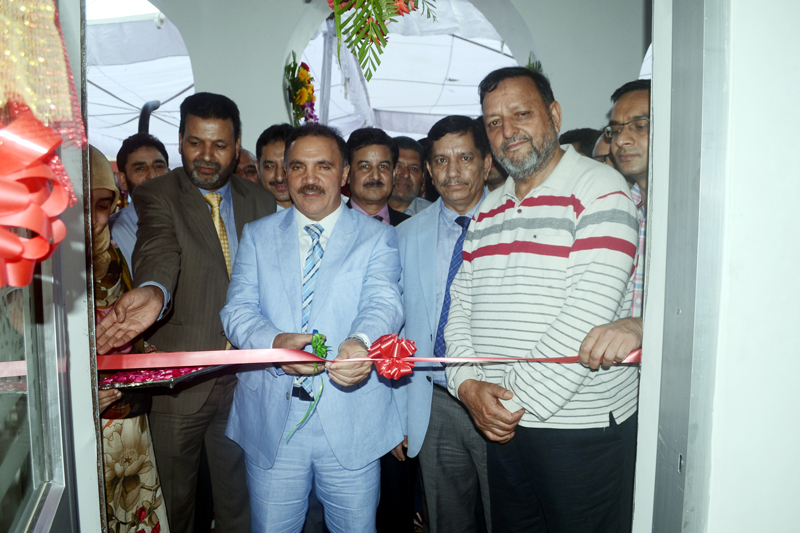 J&K Bank Chairman & CEO Parvez Ahmed inaugurating new branch at Shahdra Sharief in Rajouri.