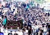 Muharram procession being taken out in Jammu on Monday. -Excelsior/Rakesh