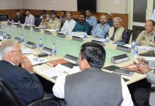 Advisor K Vijay Kumar chairing meeting of Standing Committee of State Board for Wildlife on Thursday.