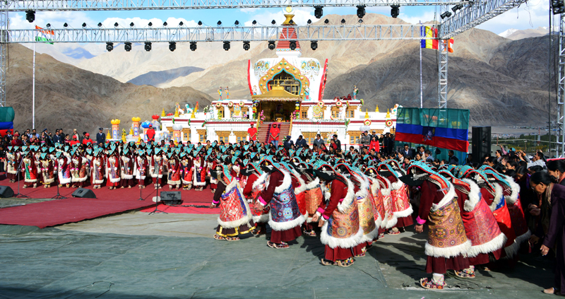 Ladies performing Shondol Dance on the concluding day of Naropa Festival at Leh. -Excelsior/Morup Stanzin