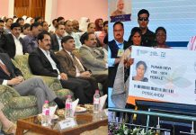 Excelsior Correspondent SRINAGAR, Sept 23: Chief Secretary, BVR Subrahmanyam, today attended the live televised launch of ambitious Ayushman Bharat - Pradhan Mantri Jan Arogya Abhiyan Yojana (PMJAY) at SKICC here. The scheme was formally launched by the Prime Minister Narendra Modi from Ranchi in Jharkhand today. Principal Secretary Health & Medical Education, Atal Dulloo, Mission Director, National Health Mission, J&K, Bhupinder Kumar and and other senior Government functionaries, doctors and medical students were also present at SKICC during the televised launch of PMJAY. Ayushman Bharat is billed as world's largest Government-funded healthcare programme aimed at benefiting 50 crore citizens across the country. The Government-sponsored health insurance scheme will provide free coverage of up to rupees 5 lakh a family a year in any Government or even empanelled private hospitals all over India. The scheme will target poor, deprived rural families and identified occupational category of urban workers' families, 8.03 crore in rural and 2.33 crore in urban areas, as per the latest Socio-Economic Caste Census (SECC) data. To ensure that nobody from the vulnerable group is left out of the benefit cover, there will be no cap on family size and age in 'Ayushman Bharat' scheme. The insurance scheme will cover pre and post-hospitalization expenses. The expenditure incurred in premium payment will be shared between Central and State Governments in a specified ratio: 60:40 for all states and UTs with their own legislature, 90:10 in Northeast states and the three Himalayan states of Jammu and Kashmir, Himachal and Uttarakhand and 100 per cent central funding for UTs without legislature. The States are also free to continue with their own health programmes. So far, 14 states have finalized their memoranda of understanding with the Centre. Of these, Andhra Pradesh, Telangana, Madhya Pradesh, Assam, Sikkim and Chandigarh are the states that will use a trust model for the mission. In a trust model, bills are reimbursed directly by the Government. Gujarat and Tamil Nadu have opted for mixed mode implementation. In an insurance model, the government pays a fixed premium to an insurance company, which pays the hospitals.