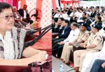 Chief Justice Gita Mittal speaking during a function organised by Bar Association Jammu.
