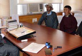 A deputation from Zanskar calling on Advisor on Tuesday.