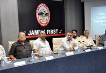 Director FCS&CA, Amit Sharma holding interactive meet with members of trade bodies in Jammu on Tuesday.