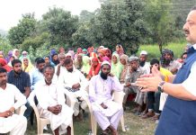NC Provincial President addressing workers' meeting in Nagrota on Monday.