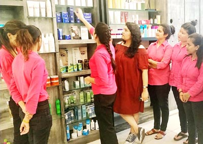 Officials of Wellness Zone Headmasters during launch of excellent range of skin and body care.