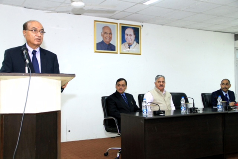 G Parthasarathy delivering a lecture at CUJ.