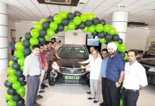 Tata Motors Nexon KRAZ being launched in Jammu.