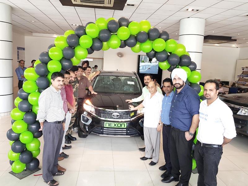Tata Motors Nexon KRAZ being launched in Jammu.