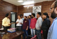 Officers and officials of Planning Department submitting a memorandum to DDC Doda Simrandeep Singh. -Excelsior/Rafi Choudhary