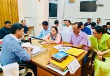 Director Social Welfare Jammu chairing a review meeting on Monday.