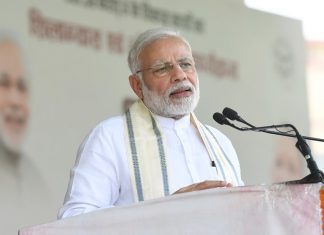 Prime Minister, Narendra Modi addressing at the inauguration of the various development projects, in Varanasi, Uttar Pradesh on Tuesday.