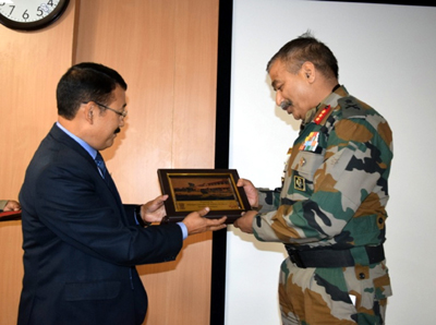 GOC 15 Corps, Lt Gen A K Bhat during inaugural fucntion of Defence Financial Management Course for officers at Srinagar.